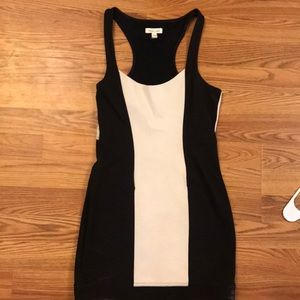 Silence + Noise Size S Black & White Dress